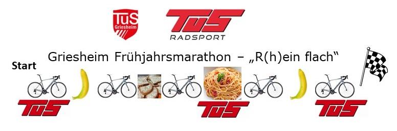 Marathon-Dymbol mit Banae und Strecke